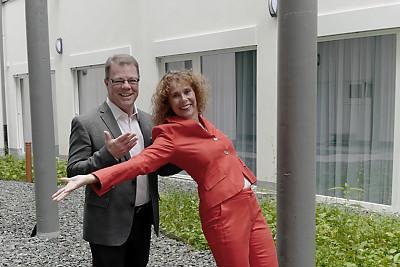 """Kunst trifft Business Programmbild """"Das ist ihr Auftritt"""" mit Schauspielerin Ila Stuckenberg und Oliver Groß"""